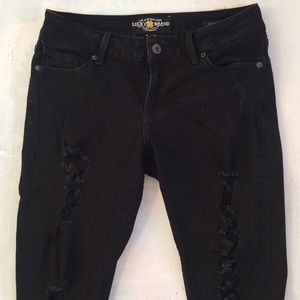 Lucky Brand black ripped Lolita jeans